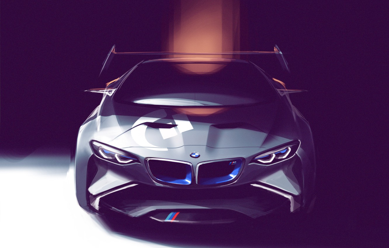 Photo wallpaper figure, BMW, art, Vision, front, Concept Car, race car, Gran Turismo