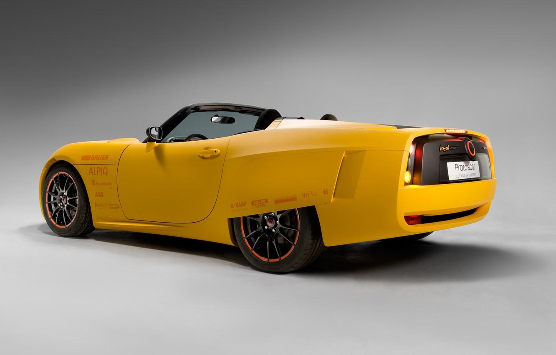 Photo wallpaper yellow, supercar, electric