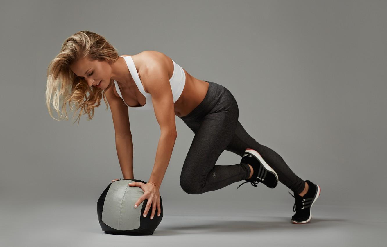 Wallpaper Woman Ball Female Workout Fitness Training
