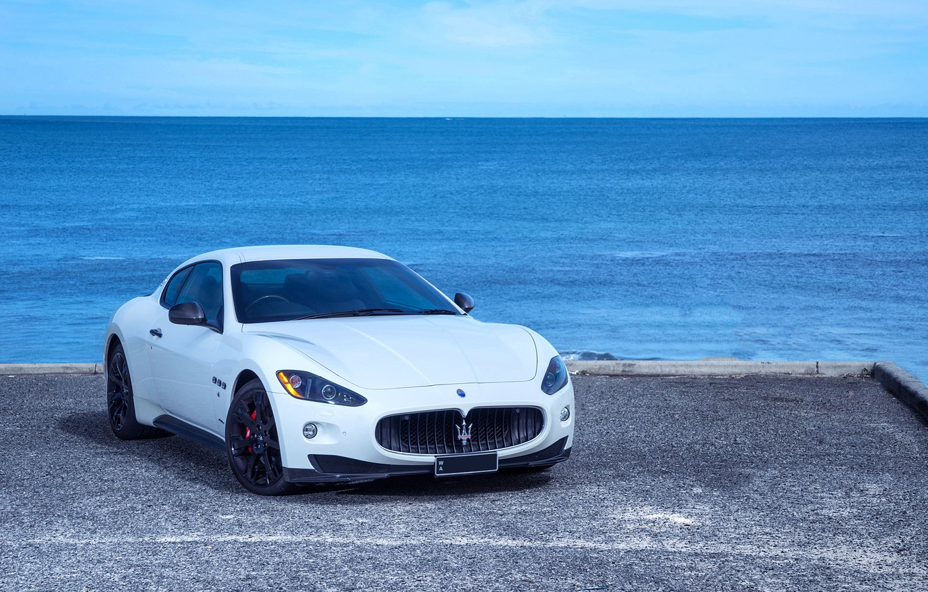 Photo wallpaper Maserati, GranTurismo, White