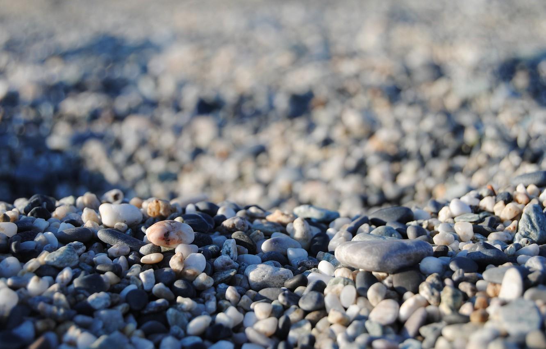 Photo wallpaper sea, stones, many stones