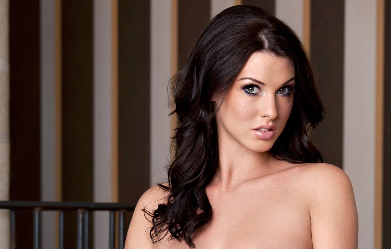 Photo wallpaper sexy, brunette, Alice Goodwin, look, pose