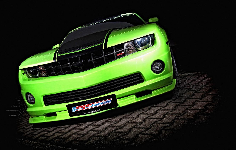 Photo wallpaper green, green, tuning, Chevrolet, Camaro, Chevrolet, tuning, Camaro, Geiger