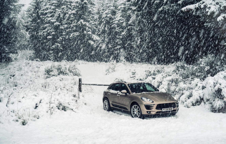 Photo wallpaper road, Porsche, hill, crossover, Diesel, Macan S