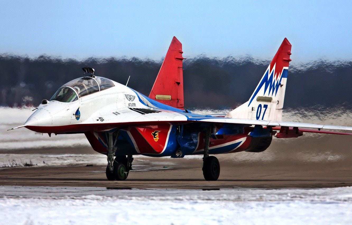 Photo wallpaper the plane, fighter, MiG-29UB, Swifts