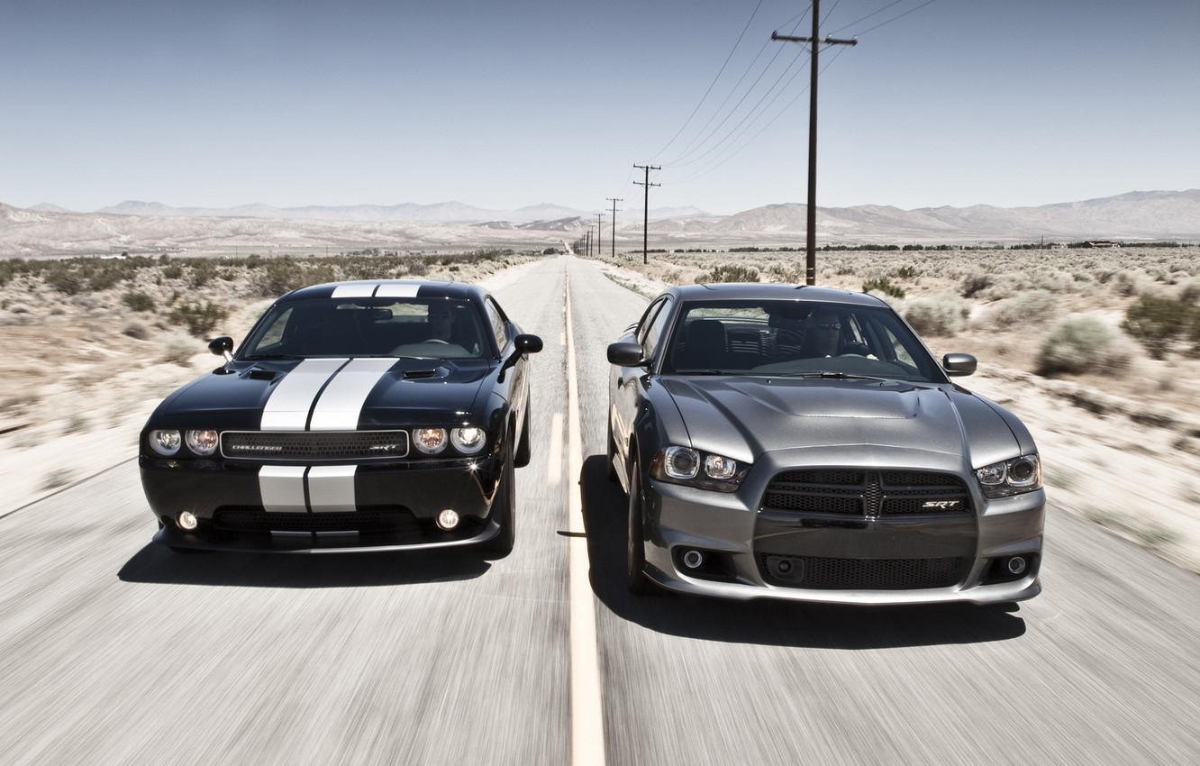 Photo wallpaper the sky, coupe, Dodge, SRT8, Challenger, sedan, Dodge, Charger, the charger, Muscle car, 392, chelenzher, …