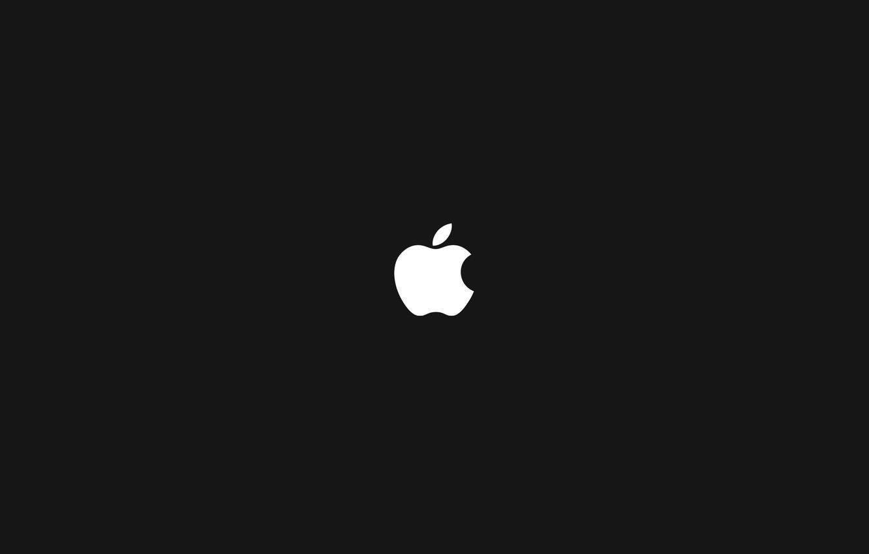 Photo wallpaper apple, mac, black background, Hi-Tech