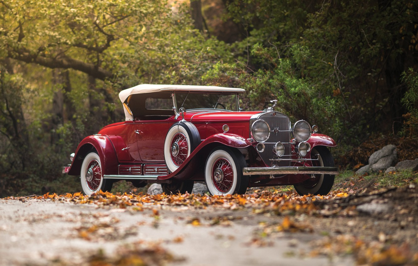 Photo wallpaper Cadillac, Roadster, Roadster, the front, 1930, Cadillac, V16, by Fleetwood, 452 452-A