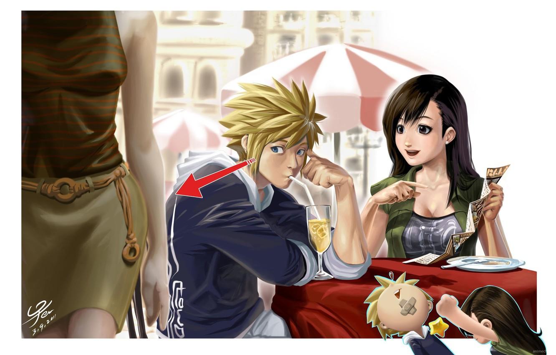 Photo wallpaper anime, art, Claud, Cloud, Typhus, final fantasy, finalka, Тifa