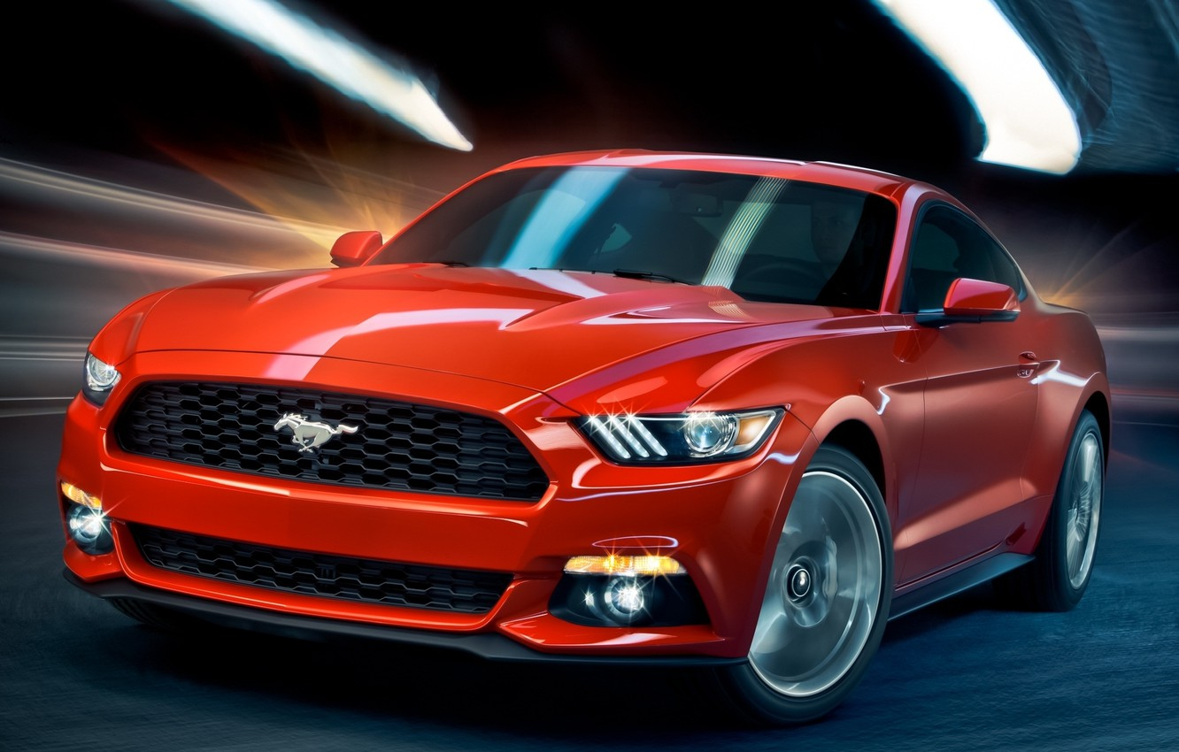Photo wallpaper Mustang, Ford, Coupe, 2014