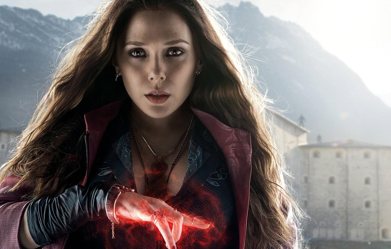 Photo wallpaper fiction, comic, Scarlet Witch, Elizabeth Olsen, Elizabeth Olsen, Wanda Maximoff, Avengers: Age of Ultron, The …