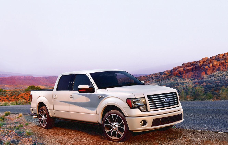 Photo wallpaper road, landscape, Ford, Pickup, F150