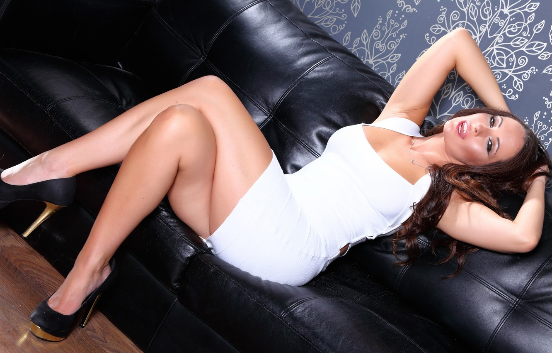 Photo wallpaper girl, sexy, dress, legs, woman, model, heels, Anastasia Harris
