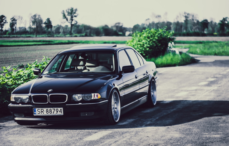 Photo wallpaper BMW, Boomer, BMW, Black, Stance, E38, Bimmer, 740iA