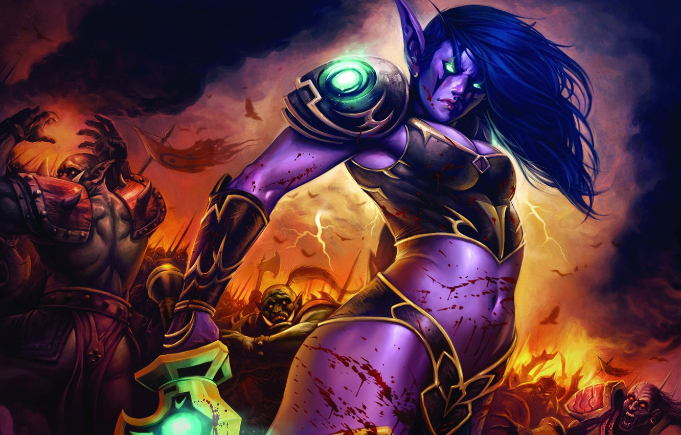 Wallpaper Elf World Of Warcraft Battle Images For Desktop