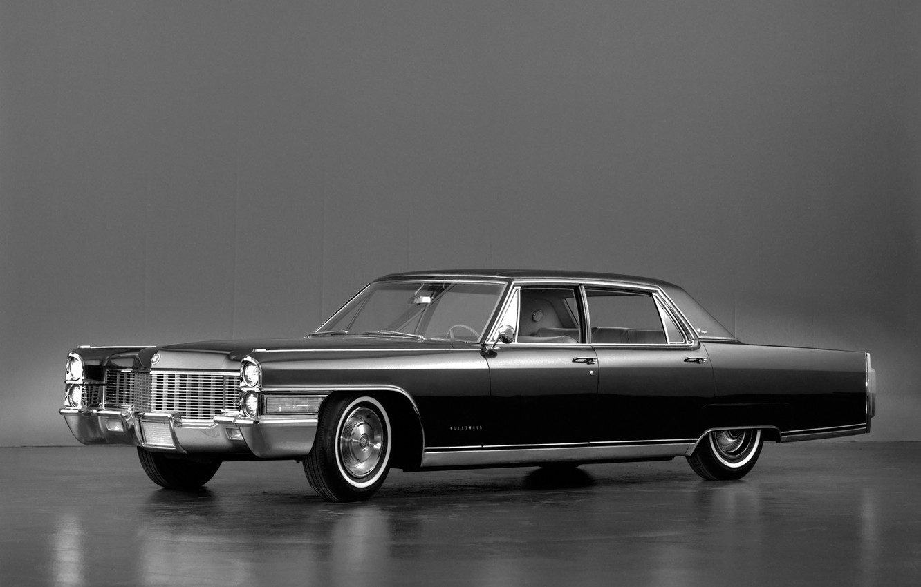 Photo wallpaper background, black, Cadillac, 1965, the front, Cadillac, Fleetwood, Sixty Special Brougham