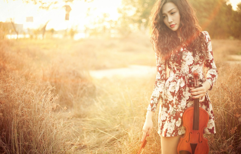 Wallpaper Girl Violin Asian Images For Desktop Section Muzyka