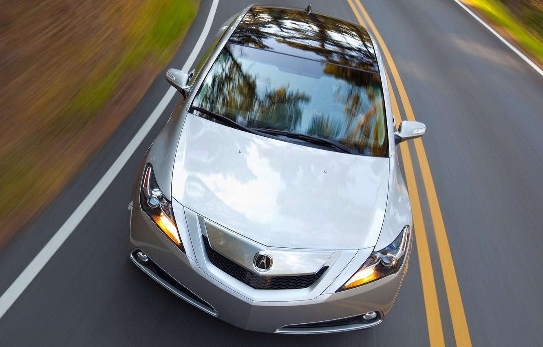 Photo wallpaper road, speed, Auto, Acura ZDX on road