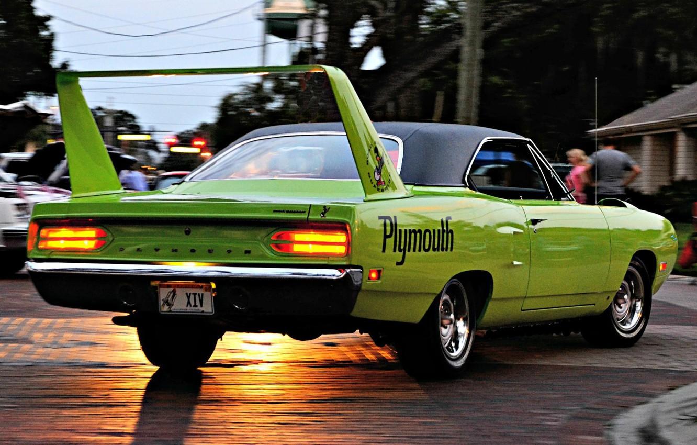 Photo wallpaper Plymouth, Superbird, Road Runner, '1970, Engine Hemi V8, 425 h.p