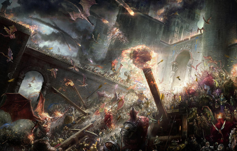 Photo wallpaper war, fantasy, the battle, Epic battle