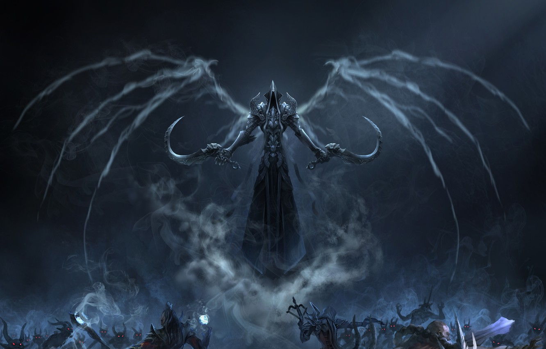 Photo wallpaper Blizzard, Art, Diablo 3, Background, Blizzard Entertainment, Minions, Fan Art, Reaper, Video Game, Reaper of …