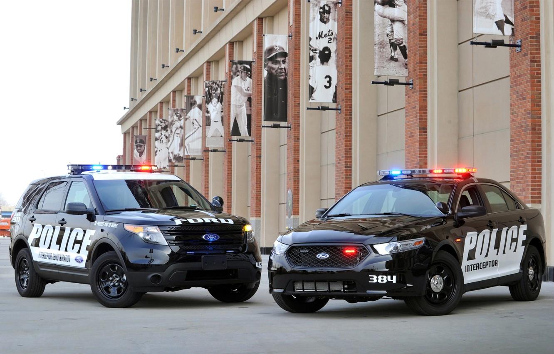 Photo wallpaper Ford, police, jeep, sedan, Ford, Taurus, Sedan, spec.version, Explorer, Taurus, Police Interceptor, Explorer