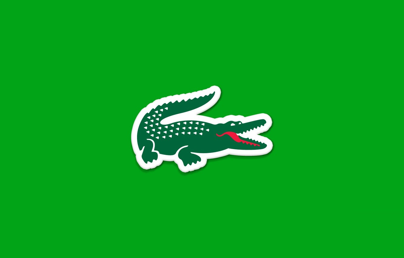 Photo wallpaper Red, Green, Lacoste, Style, White, Wallpaper, Minimalism
