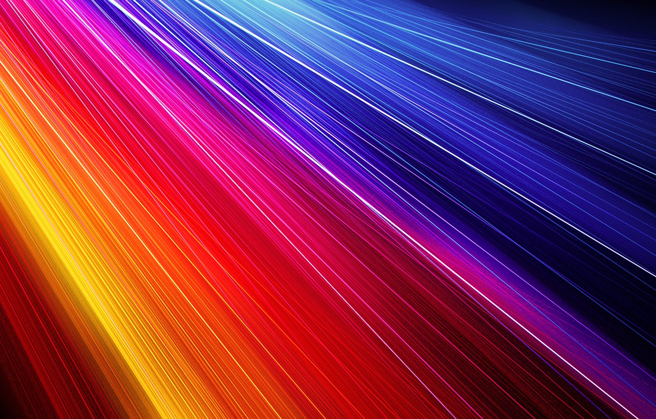 Photo wallpaper line, blue, yellow, red, color