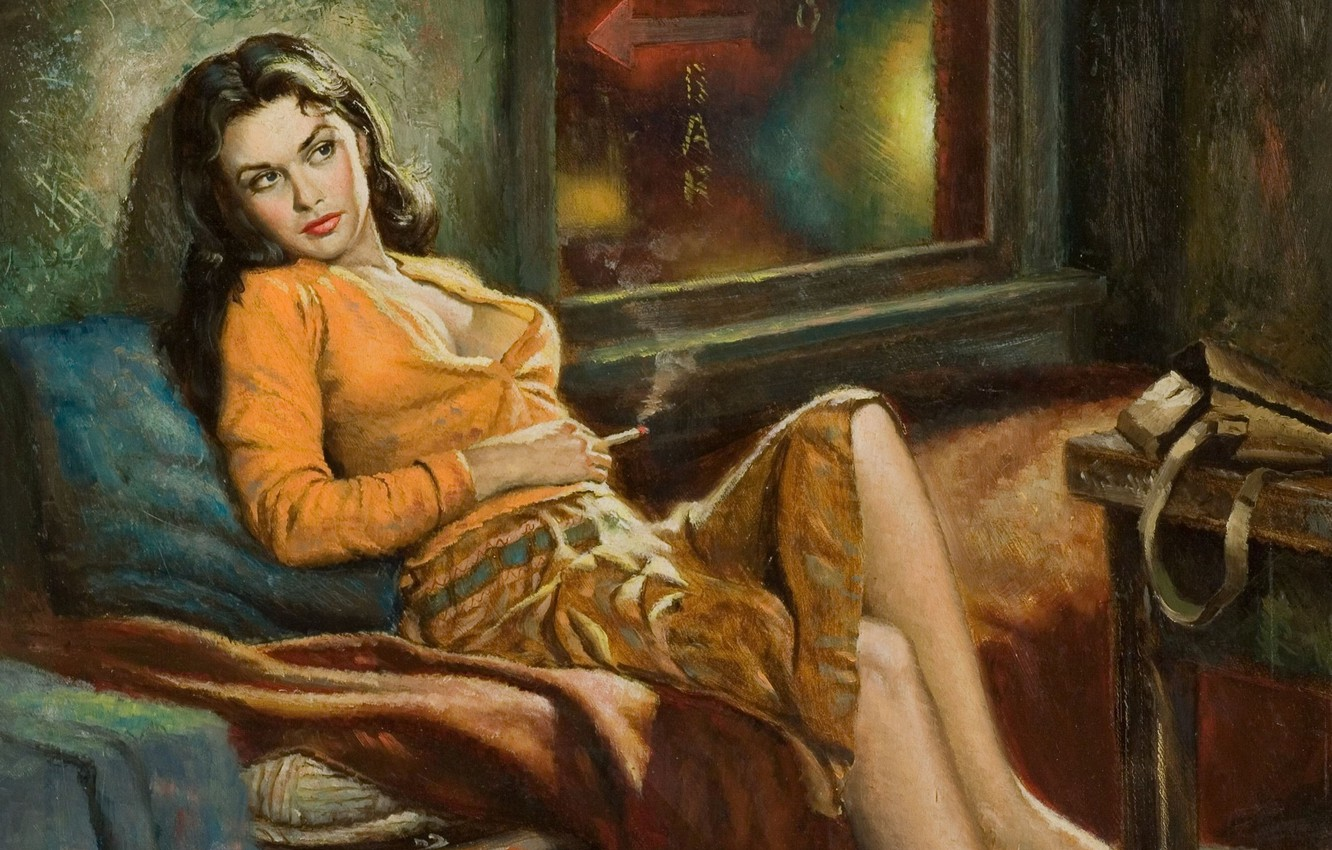 Photo wallpaper girl, figure, picture, painting, Art, Girls, Pin-Up, Paintings