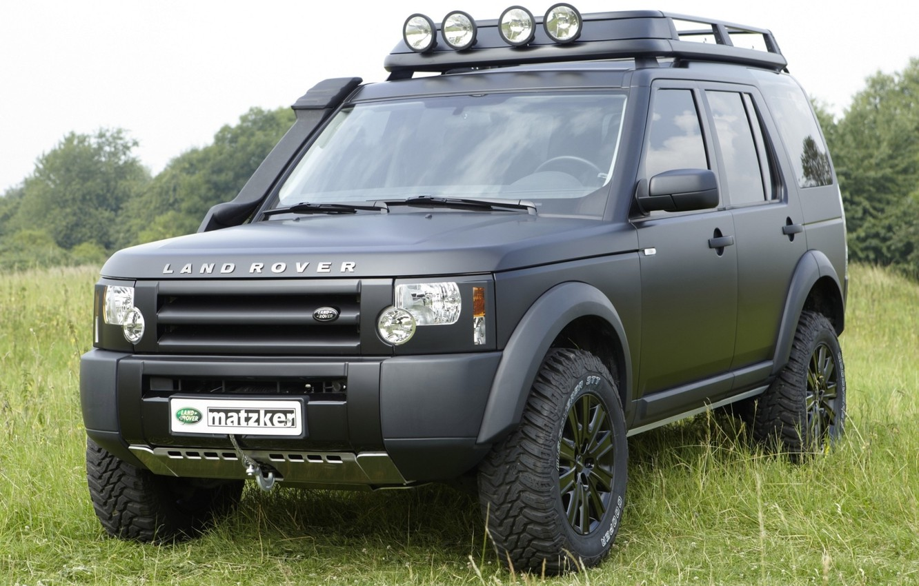 Photo wallpaper background, black, jeep, SUV, Land Rover, the front, Land Rover, Discovery 3, Discovery 3, matzker