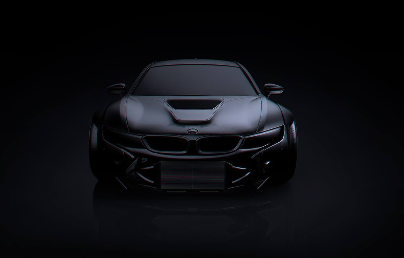 Photo wallpaper BMW, Dark, Black, Matte, Tuning, Future, by Khyzyl Saleem