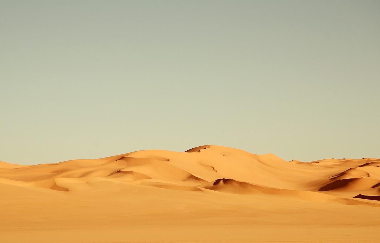 Photo wallpaper sand, yellow, the wind, desert, heat, Africa, landscape, nature