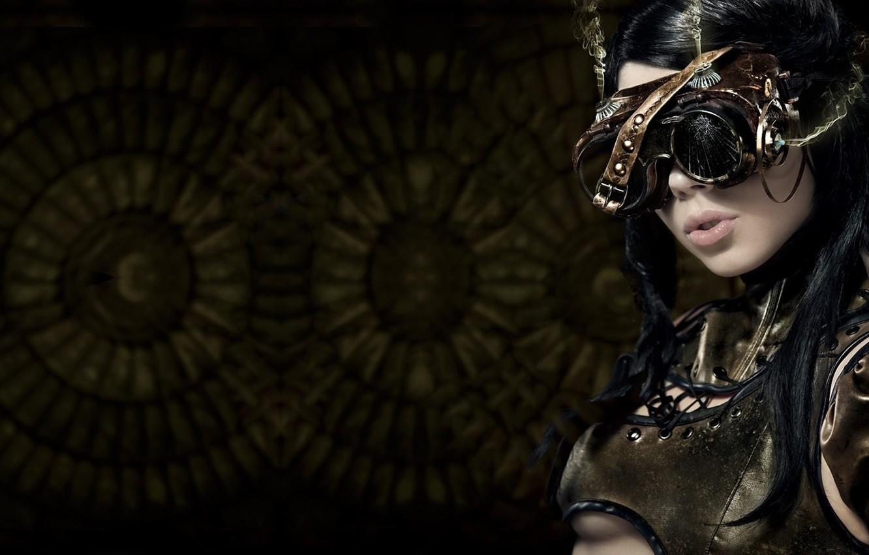 Photo wallpaper girl, style, glasses, steampunk, Neformal