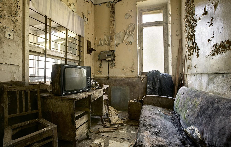 Photo wallpaper room, sofa, interior, TV
