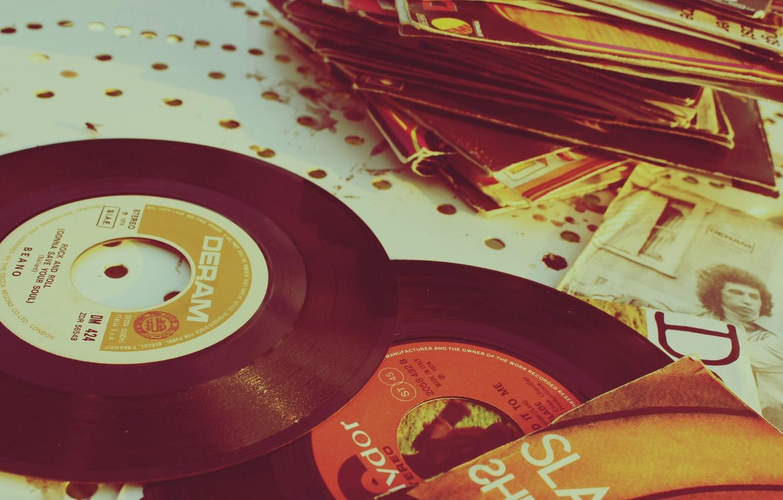 Photo wallpaper music, vinyl, records