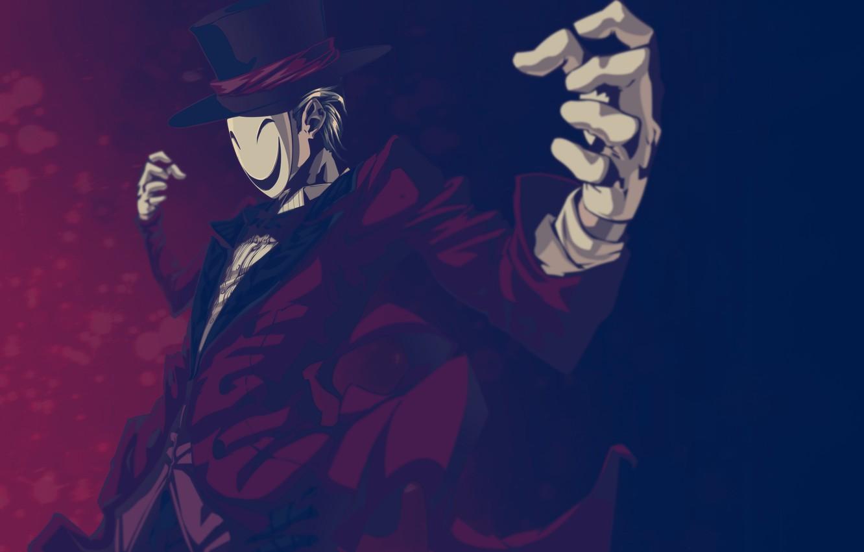 Photo wallpaper Anime, mask, smile., Black Bullet, Kagetane Hiruko