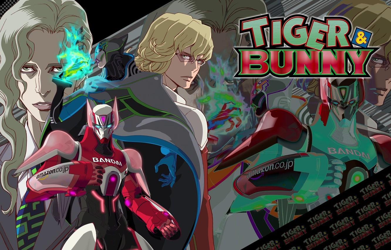 Photo wallpaper armor, guys, cool, Bunny, Tiger and Bunny, fighting robots, Tiger & Bunny