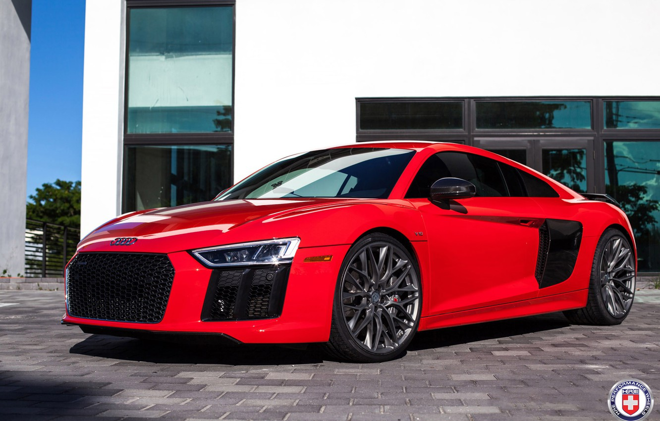 Photo wallpaper Audi, with, HRE, P200, R8, in, Satin Charcoal