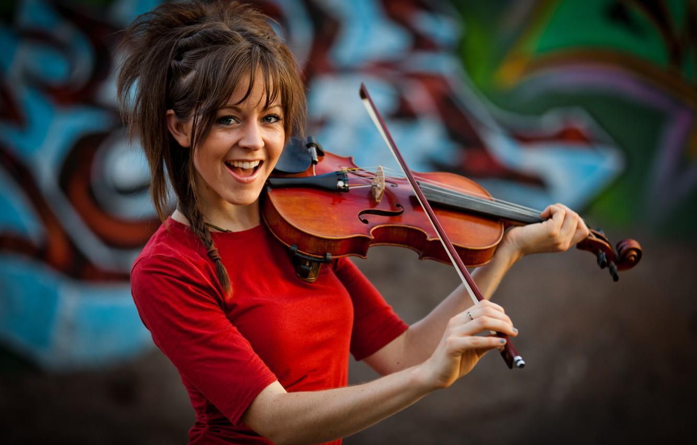 Photo wallpaper girl, violin, violin, Lindsey Stirling, Lindsey Stirling, violinist