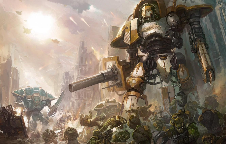 Wallpaper Warhammer 40000 Orcs Orks Warhammer 40k Free