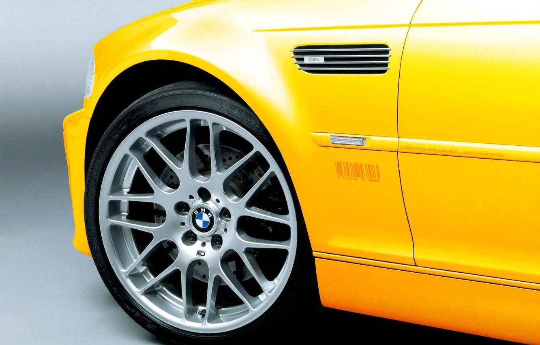 Photo wallpaper Yellow, Wheel, BMW