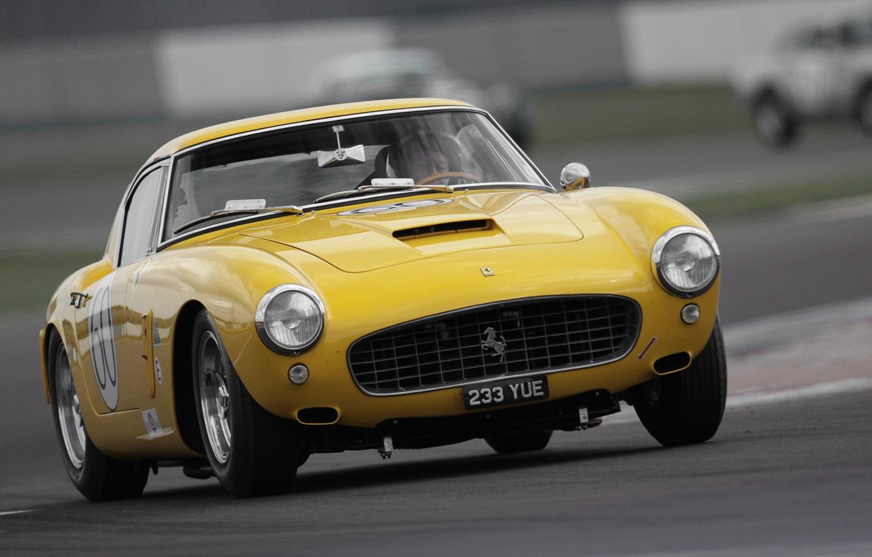 Photo wallpaper Retro, The hood, Ferrari, Lights, 250, The front