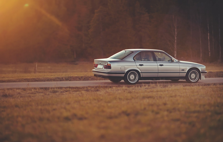 Photo wallpaper Road, BMW, BMW, E34, Alpina, B10, Bi-turbo