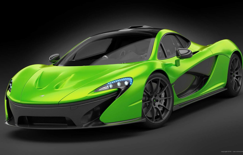 Photo wallpaper McLaren, Green, Supercar