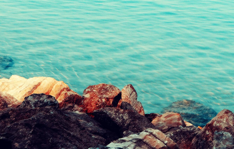 Photo wallpaper sea, nature, stones, shore, sea, nature, stones
