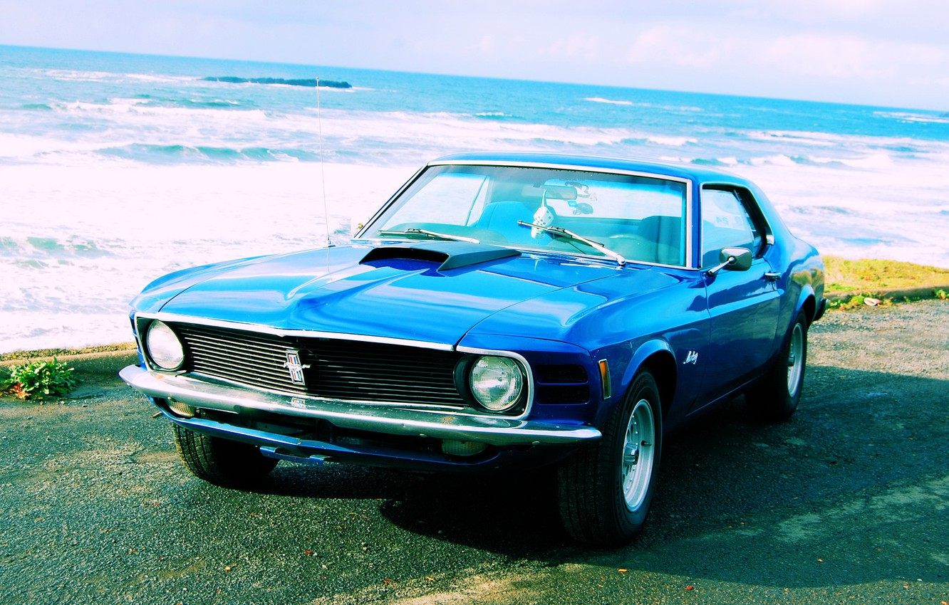 Photo wallpaper mustang, ford, 1970