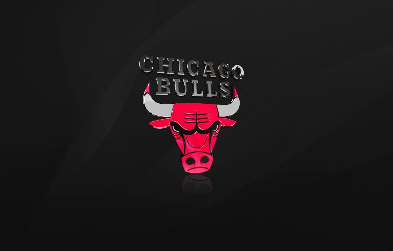 Photo wallpaper Black, Chicago, Basketball, Logo, NBA, Chicago Bulls, Bulls