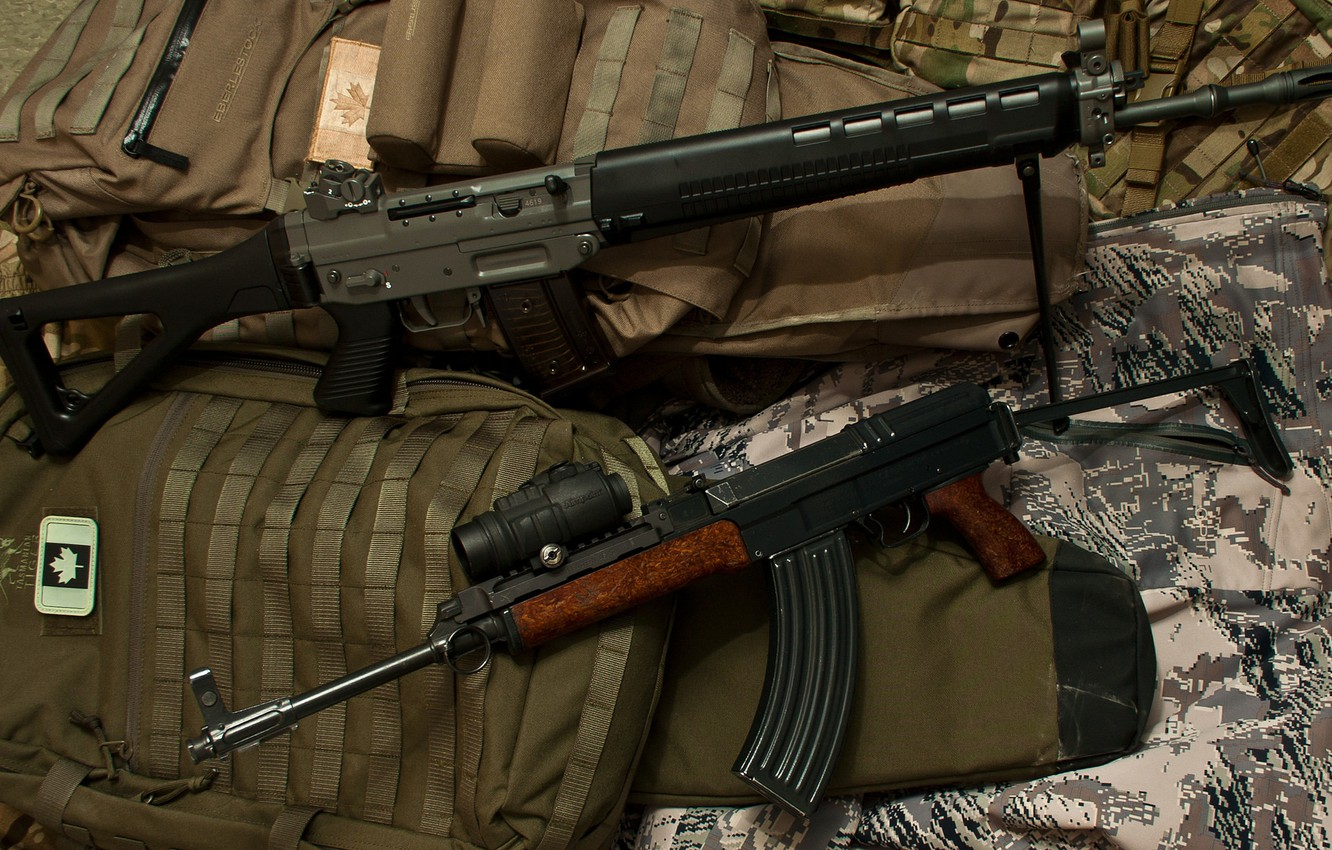 Photo wallpaper weapons, machines, SIG, Cz 858, SG 550, Swiss Arms