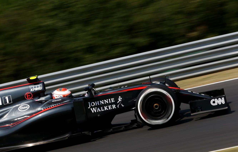 Photo wallpaper McLaren, Profile, Honda, Formula 1, Jenson Button, McLaren