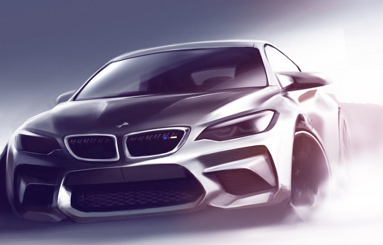 Photo wallpaper BMW, BMW, Sketch